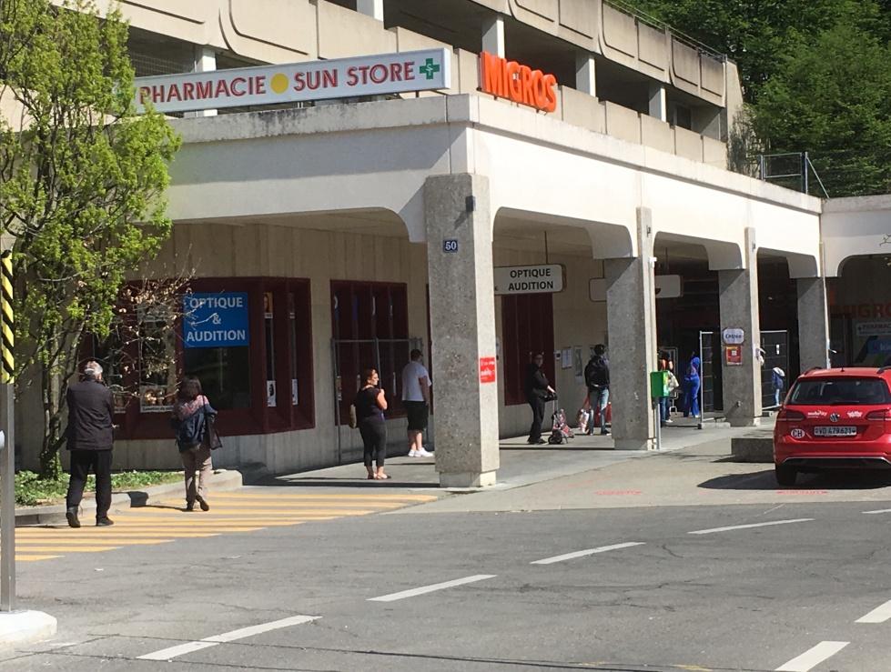Lausanne, Migros des Bergières, 11.04.2020